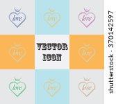 pendant   valentine's day... | Shutterstock .eps vector #370142597