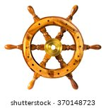 old vintage wooden steering... | Shutterstock . vector #370148723