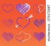 heart collection icon  love... | Shutterstock .eps vector #370172087
