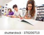 group of students at work   Shutterstock . vector #370200713