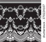black damask vintage floral... | Shutterstock .eps vector #370224107