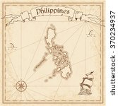 philippines old treasure map.... | Shutterstock .eps vector #370234937