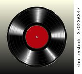 vinyl record on a black... | Shutterstock .eps vector #370236347