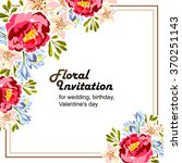 Stock vector invitation with floral background 370251143