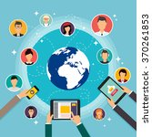 social network vector concept.... | Shutterstock .eps vector #370261853