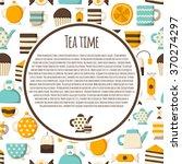 cartoon teatime concept   Shutterstock .eps vector #370274297