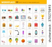 designer's workplace and items... | Shutterstock .eps vector #370275893
