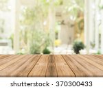 wooden board empty table in... | Shutterstock . vector #370300433
