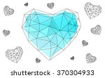 blue heart isolated on white... | Shutterstock .eps vector #370304933