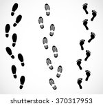 foot trail set vector | Shutterstock .eps vector #370317953
