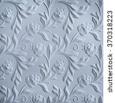White Floral Pattern  Embossed...
