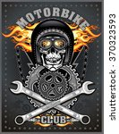 vintage motorcycle club  | Shutterstock .eps vector #370323593
