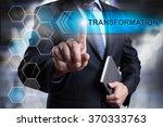 businessman pressing button on... | Shutterstock . vector #370333763