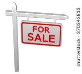 pillar with sign for sale ... | Shutterstock . vector #370343813