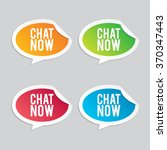 chat now speech bubble stickers | Shutterstock .eps vector #370347443