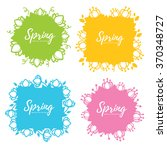 bright and simple floral spring ... | Shutterstock .eps vector #370348727