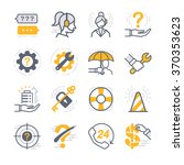 business support icons   Shutterstock .eps vector #370353623