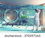 housewife dreams. creative...   Shutterstock . vector #370357163