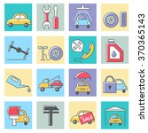 car service icons  thin line... | Shutterstock .eps vector #370365143