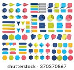 mega set of infographics flat... | Shutterstock .eps vector #370370867