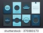 vector brochures with doodles... | Shutterstock .eps vector #370383173