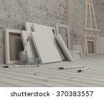 3d render of an artist studio | Shutterstock . vector #370383557