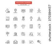 set of modern flat line icon...   Shutterstock .eps vector #370384457