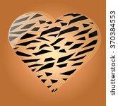 animal print heart. greeting... | Shutterstock .eps vector #370384553
