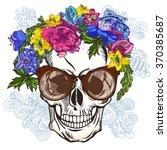 vector illustration of skull... | Shutterstock .eps vector #370385687