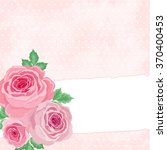 pink background with roses in... | Shutterstock .eps vector #370400453