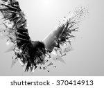 geometric black abstract bird.... | Shutterstock .eps vector #370414913