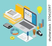 business analysis report and... | Shutterstock .eps vector #370415597