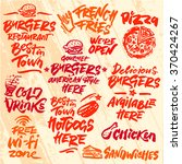 set of fast food calligraphic... | Shutterstock .eps vector #370424267