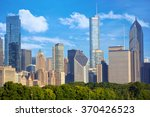 cityscape of chicago downtown ... | Shutterstock . vector #370426523