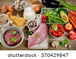 assortment of fresh vegetables... | Shutterstock . vector #370429847