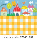 background for kids with town... | Shutterstock .eps vector #370431137