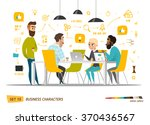 business cartoon characters... | Shutterstock .eps vector #370436567