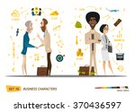 business cartoon characters... | Shutterstock .eps vector #370436597