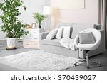 living room design with... | Shutterstock . vector #370439027