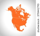 map of north america | Shutterstock .eps vector #370441793