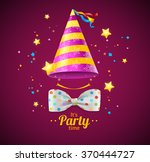 party card or placard with a... | Shutterstock .eps vector #370444727