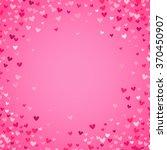 romantic pink heart background. ... | Shutterstock .eps vector #370450907