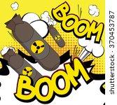 comic book  cartoon explosion... | Shutterstock .eps vector #370453787