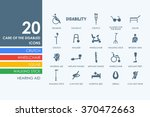 set of people with disabilities ...   Shutterstock .eps vector #370472663