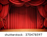 Velvet Curtains And Wooden...