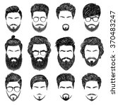 a set of mens hairstyles ... | Shutterstock .eps vector #370483247