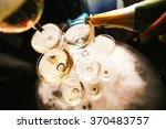 mountain glasses of champagne ... | Shutterstock . vector #370483757