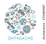 space icon set in linear style. ... | Shutterstock .eps vector #370484987