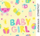 baby girl seamless background   ... | Shutterstock .eps vector #370487417