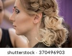 application of wedding makeup....   Shutterstock . vector #370496903